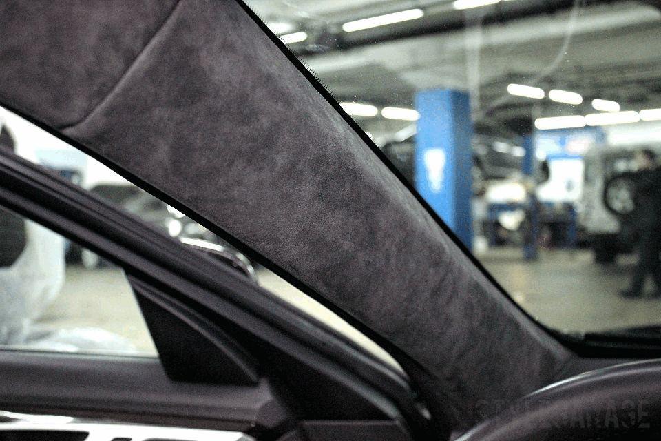 Перетяжка потолка автомобиля москва