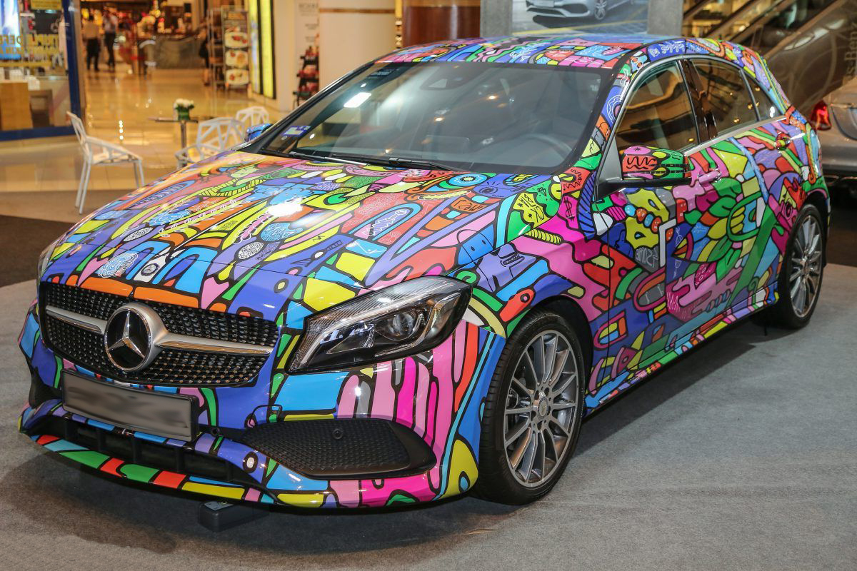 окраска автомобиля по картинке ухода